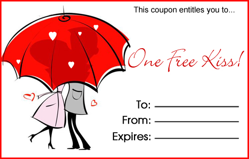 Kiss coupon template